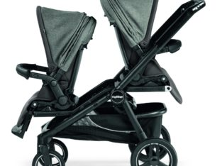 Peg-Perego Team Double Stroller With Team Adapter