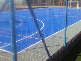 Tennis courts resurface