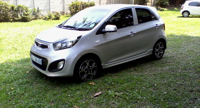 2012 KIA PICANTO 1,2 AUTOMATIC in a mint condition. Full house. top off the range. ice cold air-con. power steering. remote central locking. electric windows. mag rims. front and rear fogs. smash and grab tint. mp 3 player. factory fitted cell phone blue tooth kit. multi function steering wheel. vehicle runs very well and is sold with a valid cor and two remote transponder keys, service books and owners manual. rand 89500.. slightly neg call 0842926659