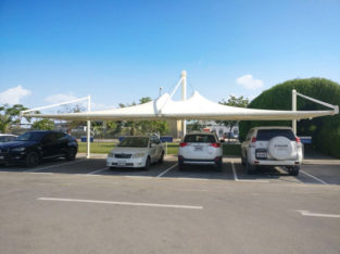 Car Park shades and Tensile Fabric shade structures | Manufacturing | Supply | Installation | Export | Al Fares International Tents