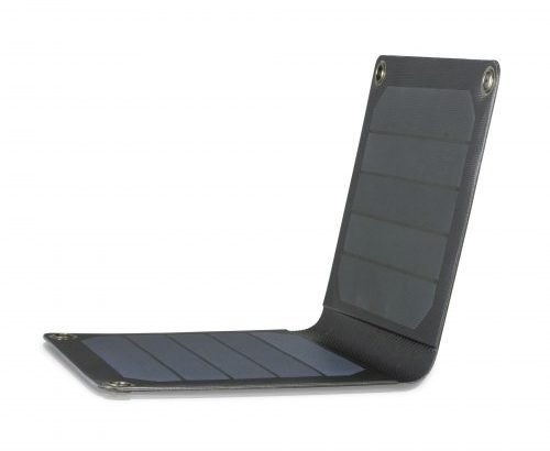 MANISKA PORTABLE SOLAR CHARGER (INCL SOLAR PANELS, CARABINER AND CHARGE CABLE)