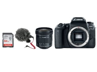 Canon EOS 77D DSLR Camera Vlogging Kit