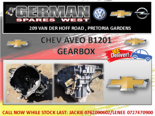 CHEV AVEO B1201 GEARBOX FOR SALE