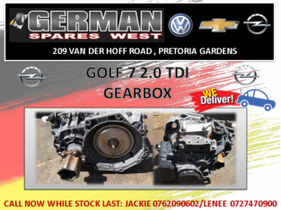 GOLF 7 2.0 TDI GEARBOX FOR SALE