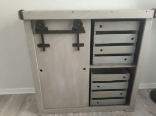 (RS 155) Cabinet With Sliding Door.