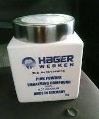 +27839281381 HOT HAGER WERKEN EMBALMING COMPOUND POWDER
