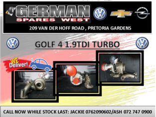 GOLF 4 1.9 NEW TURBO FOR SALE