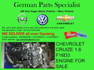 CHEVROLET CRUIZE 1.6 F16D3 ENGINE FOR SALE