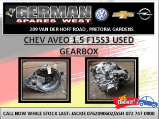 CHEV AVEO 1.5 F15S3 USED GEARBOX FOR SALE