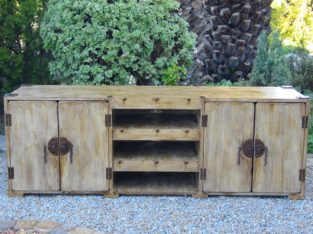 (RS 48) Rustic Barn Brown Plasma Stand To Be Manufacture To Order