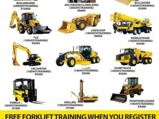 Earth Moving machinery school 777 dump truck Excavator Grader TLB Front end loader training Boilermaker course 0733146833