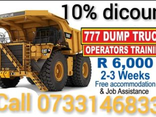 Join now Mining course 777 dump truck excavator front end loader training Boilermaker course 0733146833