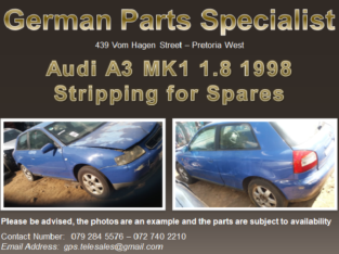 Audi A3 MK1 1.8 Stripping for Spares