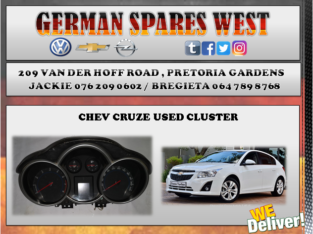 CHEV CRUZE CLUSTER FOR SALE