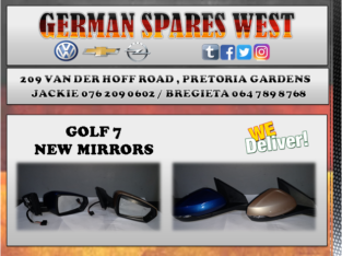 GOLF 7 NEW MIRROR FOR SALE
