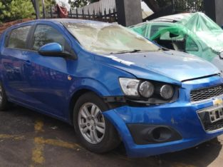 CHEV SONIC BLUE CAR STRIPPING FOR SPARES