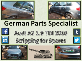 Audi A3 1.9 TDI 2010 Stripping for Spares