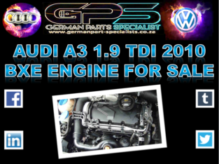 Audi A3 1.9 TDI 2010 BXE Engine for Sale
