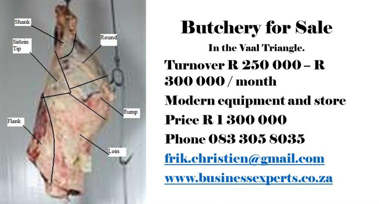 Butchery For Sale in Vaal Triangle.