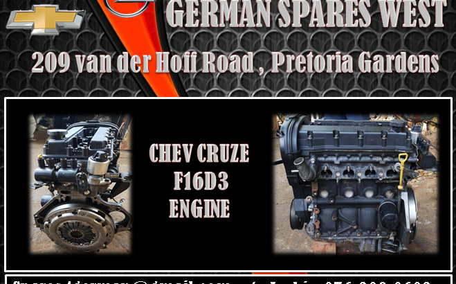 CHEV CRUZE F16D3 ENGINE