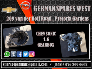 CHEV SONIC 1.6 GEARBOX