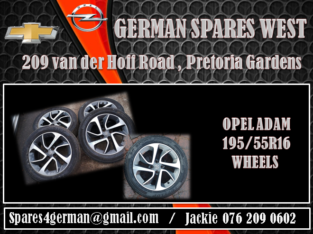 OPEL ADAM 195/55R16 WHEELS