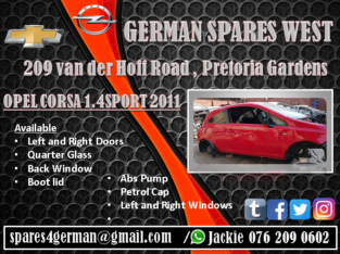 OPEL CORSA 1.4 SPORT 2011 PARTS AND SPARES FOR SAL