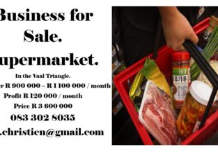 SUPERMARKET FOR SALE IN VAAL TRIANGLE.