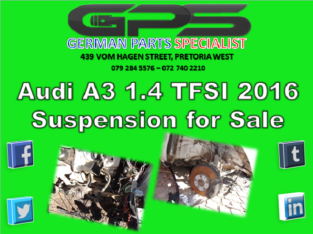 Audi A3 1.4 TFSI 2016 Suspension for Sale