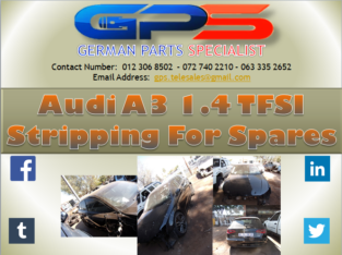 Audi A3 1.4 Sedan 2013 Stripping for Spares