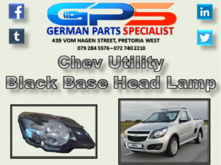 Chev Utility Black Base Head Lamp for Sale