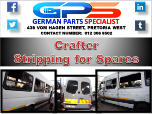 VW Crafter Stripping for Spares