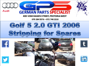 VW Golf 5 GTI 2.0 2006 Stripping for Spares
