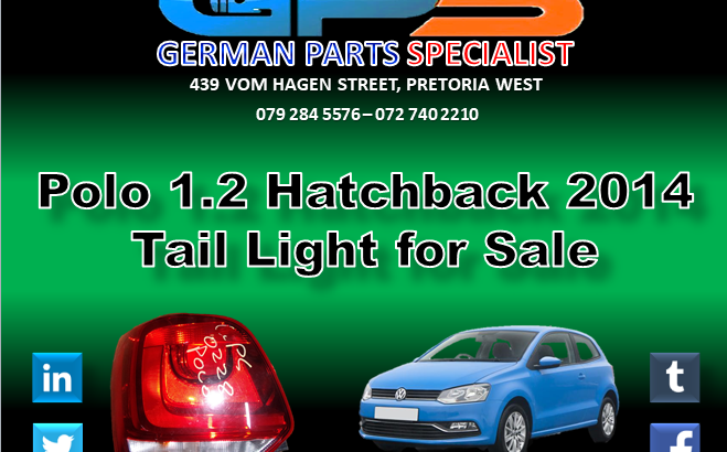 VW Polo 1.2 2014 Tail Light for Sale