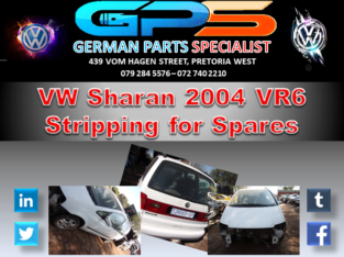 VW Sharan VR6 2004 Stripping for Spares