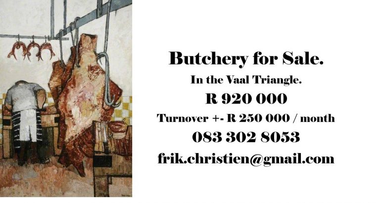 BUTCHERY FOR SALE in Vaal Triangle