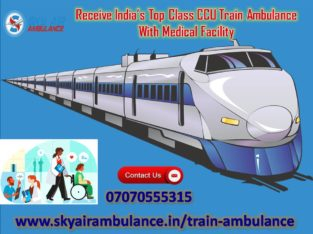 Take Hi-Class Emergency Train Ambulance Service in