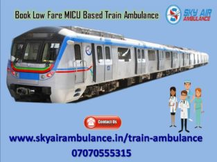 Take Train/Rail Ambulance from Kolkata to Delhi