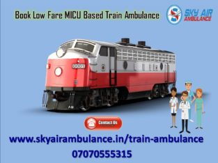 Pick Sky Train/Rail Ambulance from Raipur to Delhi