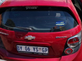 CHEV SONIC 1.6 2012 USED REAR PARTS FOR SALE