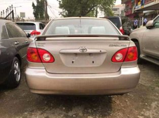 NEAT AND AFFORDABLE TOYOTA COROLLA FOR SALE.