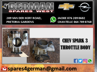 CHEV SPARK 3 USED THROTTLE BODY FOR SALE