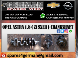 OPEL ASTRA 1.8 ( Z18XER ) USED CRANKSHAFT FOR SALE