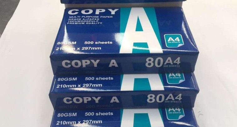 Quality paperone A4 copy papers online 80gsm