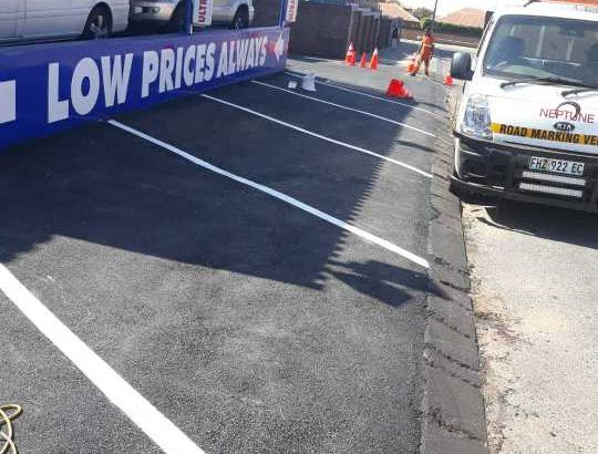 Road  Markings, car parkings and painting  of pavements