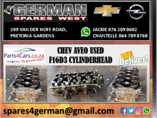 CHEV AVEO F16D3 USED CYLINDERHEAD FOR SALE