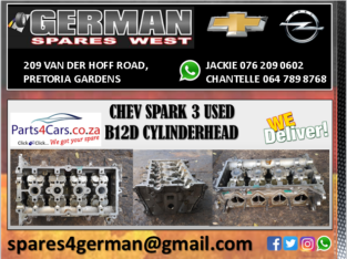 CHEV SPARK 3 USED B12D CYLINDERHEAD FOR SALE
