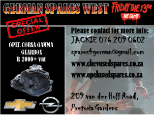 OPEL CORSA GAMMA USED GEARBOX FOR SALE