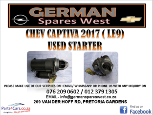 CHEV CAPTIVA 2017 (LE9) USED STARTER FOR SALE