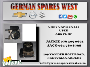 CHEV CAPTIVA Z20 USED ABS PUMP FOR SALE